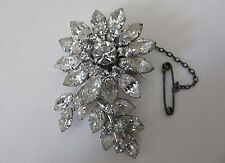 VINTAGE 1960s JEWEL CREST JEWELCRES) SIGNED DAISY BROOCH - DONALD SIMPSON