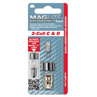 NEW! Maglite Replacement Lamp for 2-Cell C & D Flashlight, 1 pk LMXA201