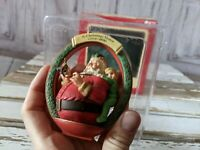 Vtg Carlton Cards Heirloom Collection There is a Santa Christmas Ornament NEW