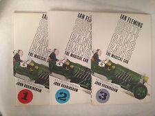 Ian Fleming, Chitty Chitty Bang Bang - Three Volumes Original Dustjackets 1964-5