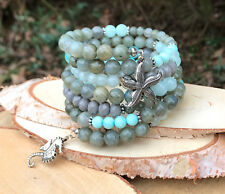 Memory Wire Armband Seepferdchen Seestern Labradorit Jade Mala Armband