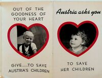 Austria Asks You to Save Her Children 1940s Brochure St Stephan's Church