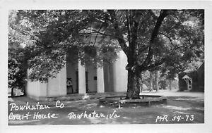 H75/ Powhatan Virginia RPPC Postcard c1950s County Court House 213