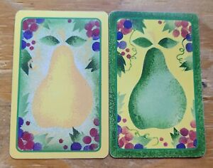 Pears - Lot of 2 Pear Single Vintage Swap Playing Cards Themed Fruit
