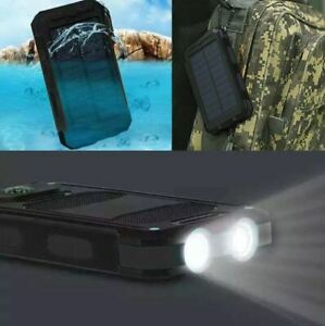 2020 Waterproof 10000mAh USB Portable Solar Charger Solar Power Bank For Phone