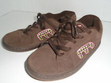ETNIES girls skater shoes Pink and Brown Size 3 Great condition