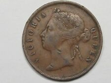 1883 British Straits Settlements (Malaysia) One Cent Coin.  #4
