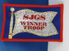 GIRL GUIDES INTERNATIONAL WINNER TROOP SJGS SAN JACINTO CA PATCH BADGE