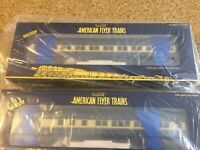 New Gilbert American Flyer AF / Heavy Weight 2 Pack Passenger Cars