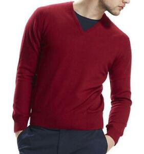 RRP 295 Cashmere Mens Jumper (pullover, sweater) red, size small S Chess London
