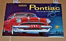 VTG 1954 for 1955 Models Pontiac V8 180 HP Strato Streak Brochure / Mailer T