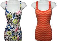 YOU GET BOTH! New! size M 2pc LOT AZTEC CHEVRON FASHION TANK TOP SHIRT WOMENS