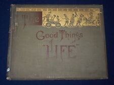 1884-1885 GOOD THINGS OF LIFE FIRST & SECOND SERIES LOT OF 2 - ILLUS. - KD 2677