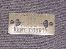 Vintage Dog Tax Tag License Kent County Michigan MI year 1965   #27528      DO21