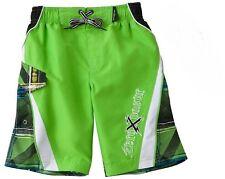ZeroXposur Board Shorts Swim Trunks ~ Size MED  10/12 ~ Green & Black