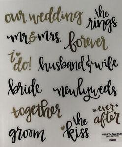 Wedding- Special occasion Scrapbook Stickers