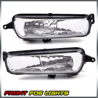 For 2015-2017 Ford Focus Pair Clear Front Bumper Fog Lights Driving Lamps+Bulbs