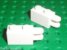 2 x LEGO white Hinge Brick Locking 30540 / Set 8118 60044 4860 8864 70802 10024