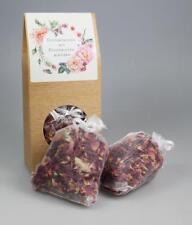 2 x Duftkissen echte Rosenblütenblätter weiße Organzasäckchen 2 x 10 g - Quertee