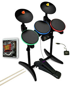 PS3 Guitar Hero WARRIORS OF ROCK Drums *Guitar Hero Pedal *DONGLE *GH Game