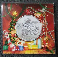 1x Canada 2013 $20 Santa Fine Silver Coin with card/COA