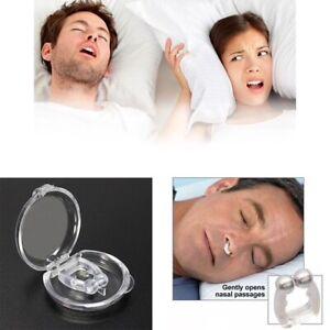 Scatola Magnetico Schnarchstopper Naso Clip Magnete Silenzioso Sonno Snore