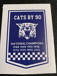 """NCAA Kentucky Wildcats by 90 Basketball Sticker National Champs Banner 3.8"""""""