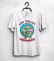 Breaking Bad T Shirt Los Pollos Hermanos Jesse Pinkman Heisenberg Blue Meth