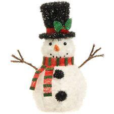 "Tinsel & Metal INDOOR 20"" LIGHTED SNOWMAN 3514455 Raz Imports Christmas NEW"