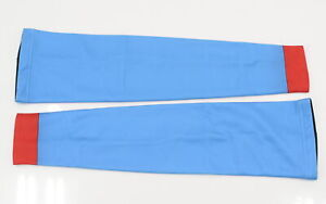 Verge Fleece Arm Warmers Large Blue/Red Brand New