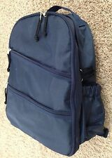 "Stylish 7X12X16"" Navy Blue Baby Trends Adjustable Backpack Purse 12 Pockets Cs"