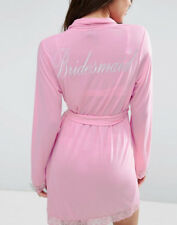 ASOS Pink Lace Bridesmaid Dressing Gown Robe Size M RRP $55