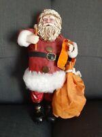 "Vintage Clothtique Style 10"" Santa Checking His List"