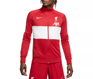 Mens Nike Liverpool Anthem Warmup Track Jacket Red White CZ2778 687 Soccer AXA