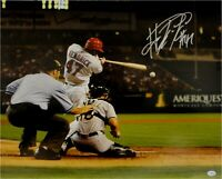 Howie Kendrick Hand Signed Autographed 16x20 Anaheim Angels Photo Big Swing COA