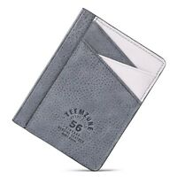 Ultra Slim Wallet Small Credit Card Case Men Minimalist Thin Leather RFID Block