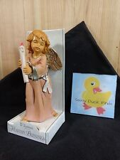"""FONTANINI Depose Angel Candle 6"""" Heaven's Blessings HOPE Nativity Figurine Italy"""