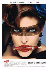 """PUBLICITE ADVERTISING 104  1998  LOUIS VUITTON   """" l'écriture"""" stylos plume"""