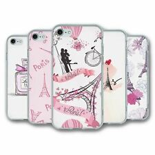 For iPhone 7 & 8 Silicone Case Cover Paris Collection 1