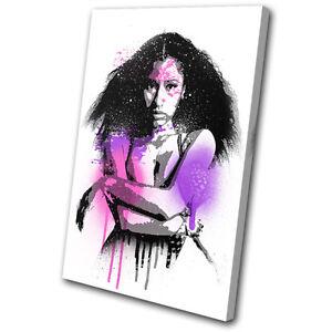 Nicki Minaj Grunge Urban Musical SINGLE CANVAS WALL ART Picture Print