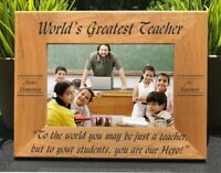 Personalized Engraved // World's Greatest Teacher // Picture Frame