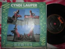 "Cyndi Lauper Girls Just Want To Have Fun Portrait  A3943 UK Vinyl 45 7"" Single"