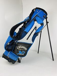 Callaway XJ Series Youth Kids Carry Golf Bag Dual Strap Harness Stand Blue Grey