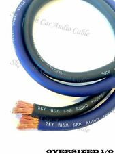20 ft 1/0 Gauge AWG 10' BLACK & 10' Blue Oversized Power Ground Wire Sky High