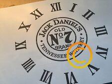 Jack Daniels Clock Stencil A3