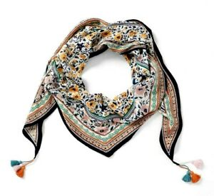 KMystic Colorful Rave Paisley and Flower Pashmina Scarf Shawl Wrap