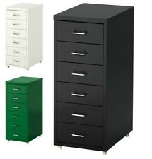 Ikea HELMER A4 Filing 6 Drawers Unit,Chest Cabinet On Castors,Multi Tool Storage