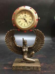 Exquisite Brass Classical Mechanical Clock Angel Shape Can work LP063