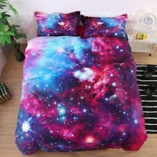 Beautiful Night Galaxy Watercolor Printed Soft  Cotton  Threads Comforter Sets