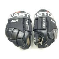 "EASTON AIR GX 1300 HOCKEY GLOVES 13.5"" BLACK WHITE RARE 1990s VINTAGE"